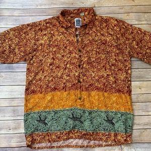 💎5/$25💎Ocean current Hawaiian Rayon Shirt